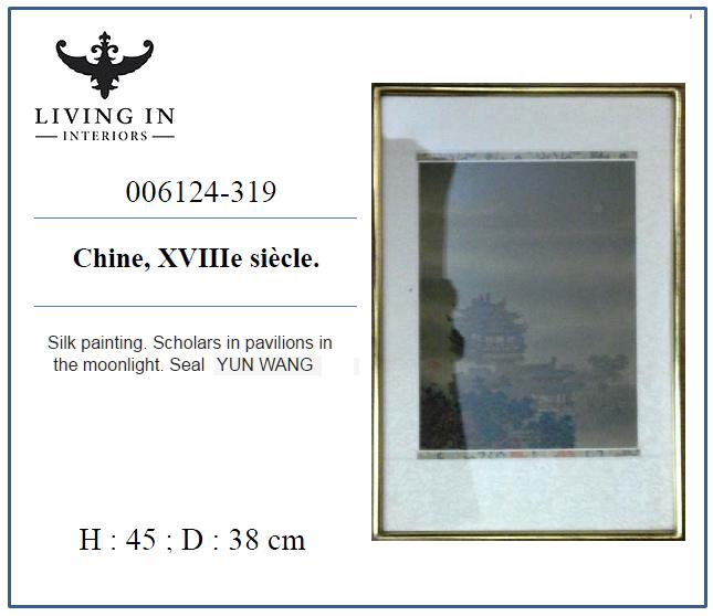 006124-319 Peinture sur soie.