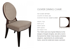 50775-001  OLIVIER DINING CHAIR