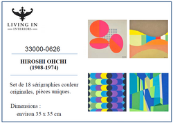 33000-0626 Ohchi Hiroshi - Set de 18 lithographies