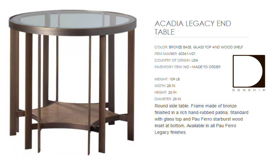 60361-V01 ACADIA LEGACY END TABLE