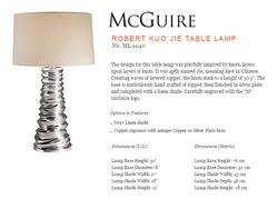 ML-1040 ROBERT KUO JIE TABLE LAMP