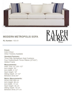 163-01 MODERN METROPOLIS SOFA