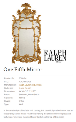 8300-04  ONE FIFTH MIRROR gold