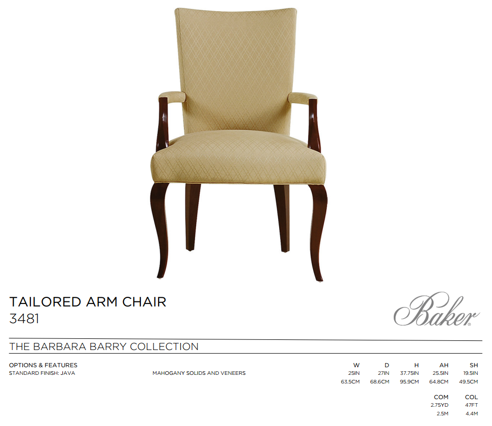 3481 TAILORED ARM CHAIR
