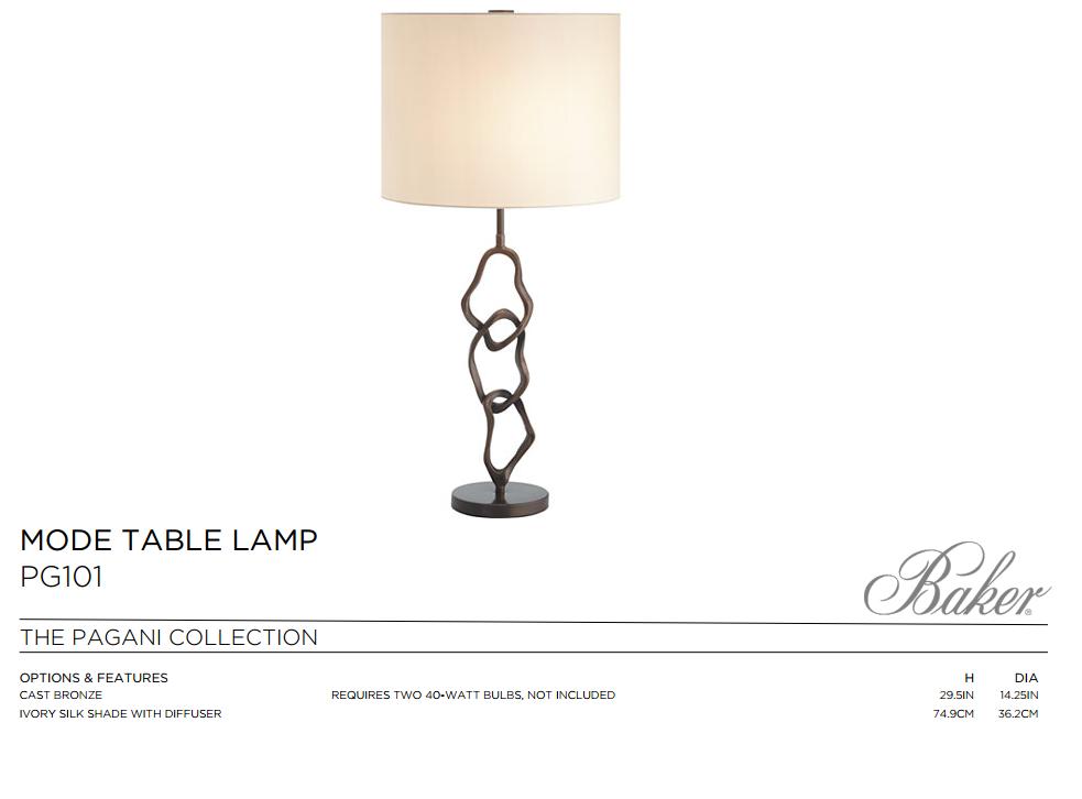 PG101 MODE TABLE LAMP