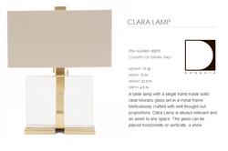 80079 CLARA LAMP