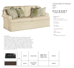 107-51 Carolyn Made To Measure Sofa