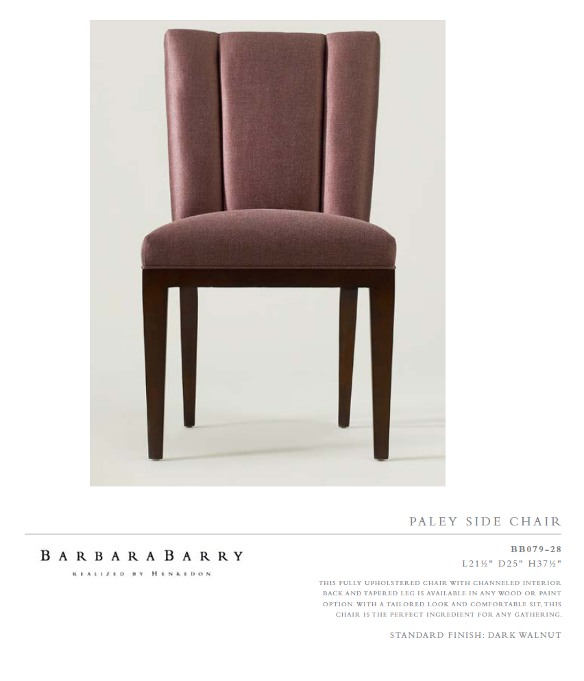 BB079-28 PaleY s i d e Chair