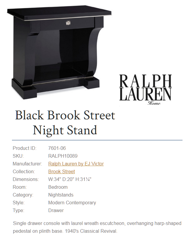 7601-06 Black Brook Street Night Stand