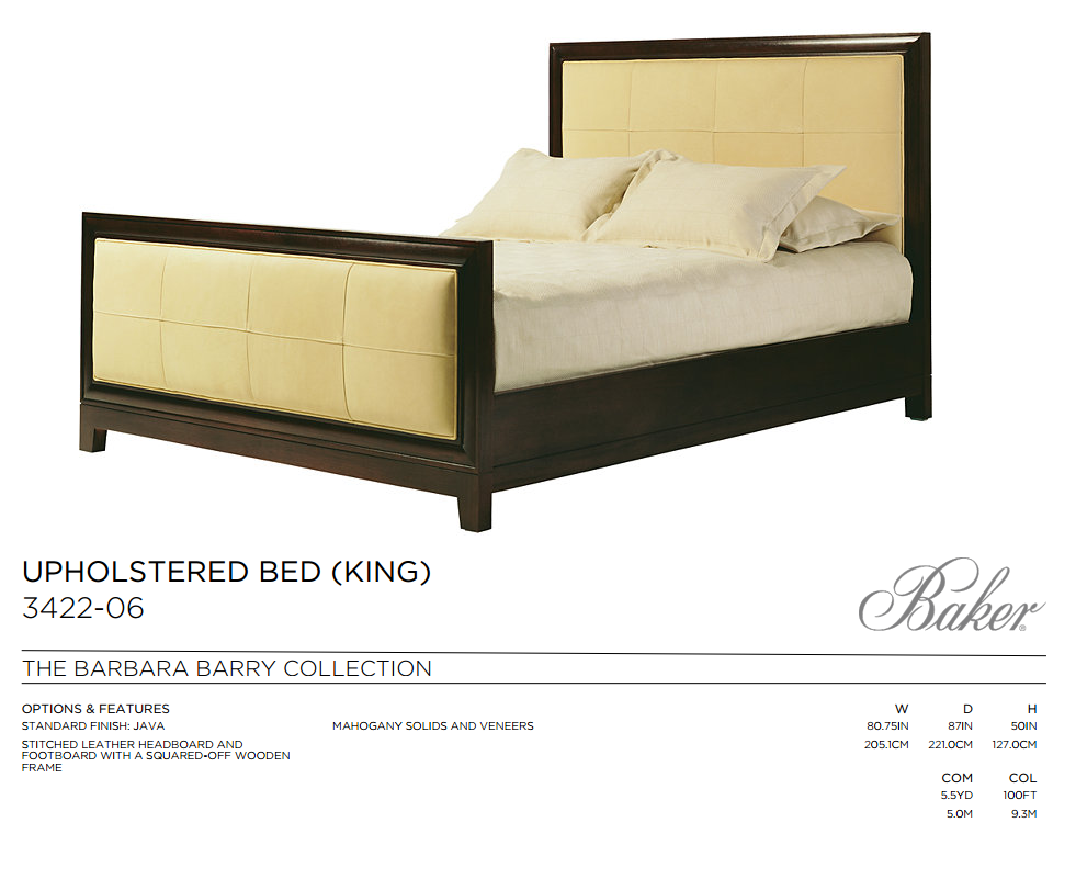 3422-06 UPHOLSTERED BED KING