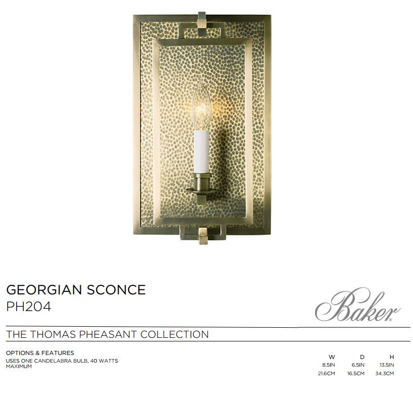 PH204 GEORGIAN SCONCE
