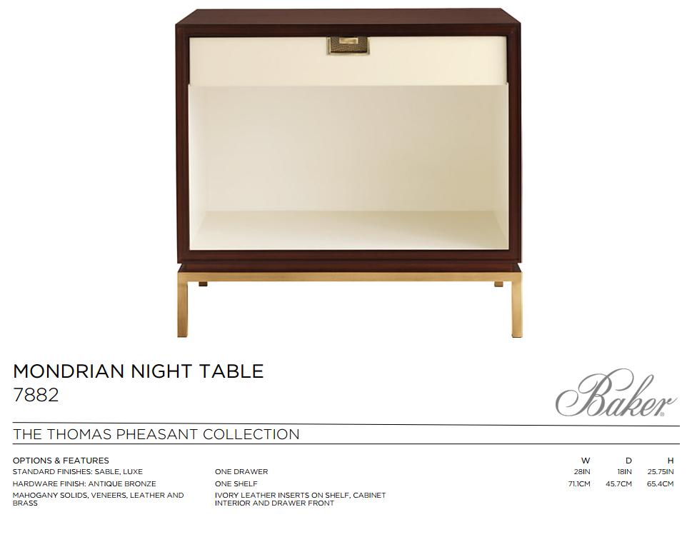 7882 MONDRIAN NIGHT TABLE
