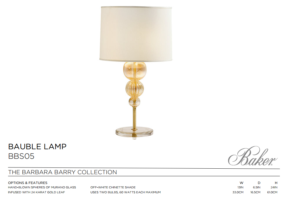 BBS05 BAUBLE LAMP