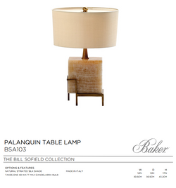 BSA103 PALANQUIN TABLE LAMP
