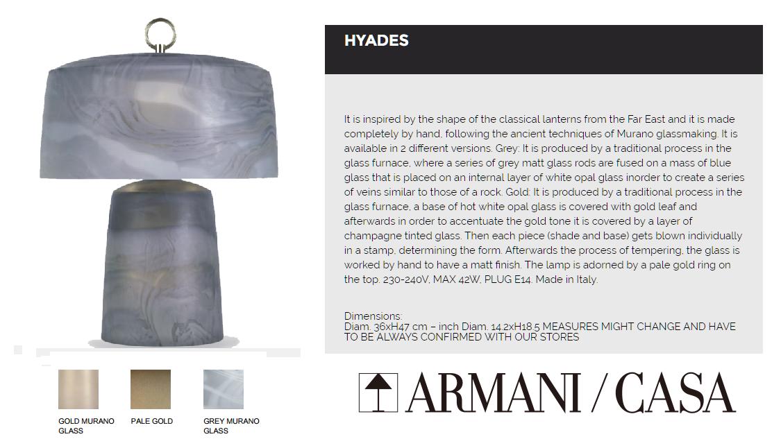 048695 UK160 C1735  HYADES MURANO GLASS LAMP