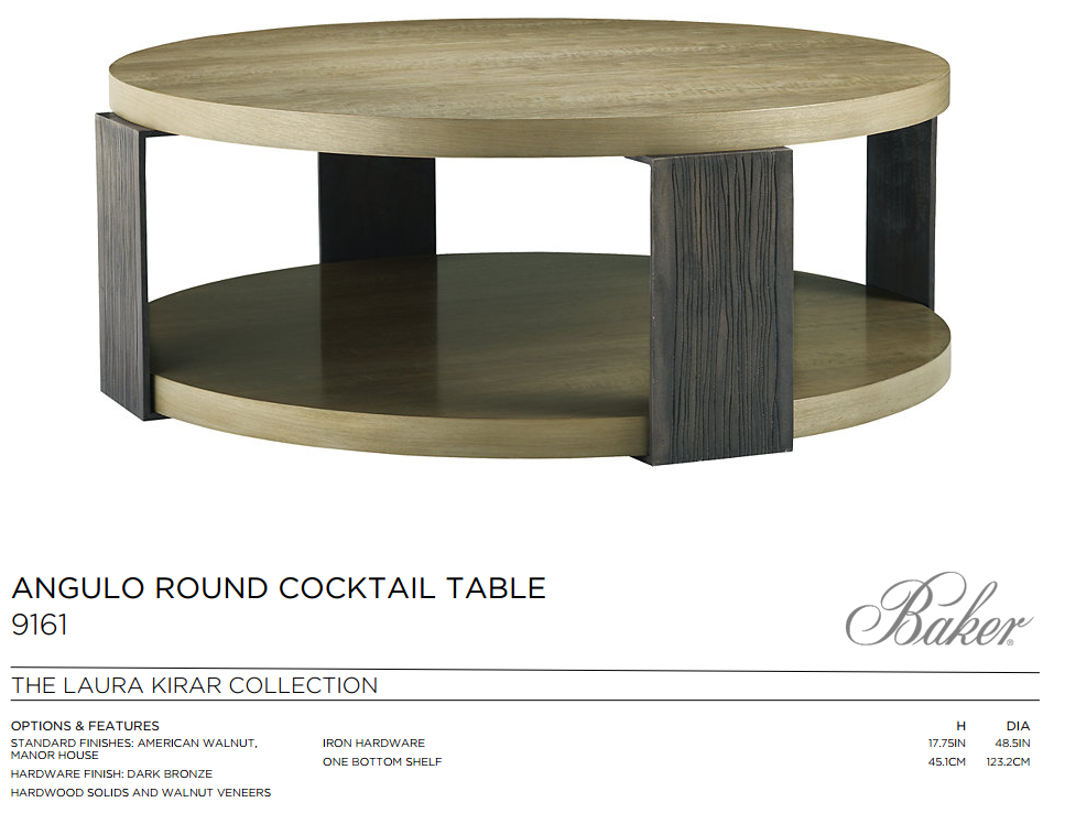 9161 ANGULO ROUND COCKTAIL TABLE