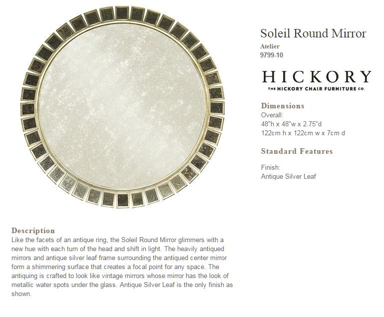 9799-10 Soleil Round Mirror
