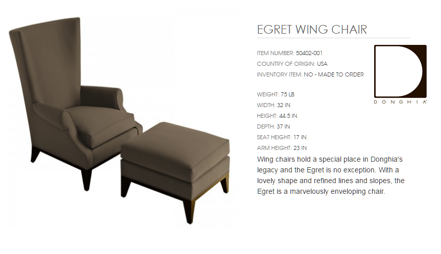 50402-001 EGRET WING CHAIR