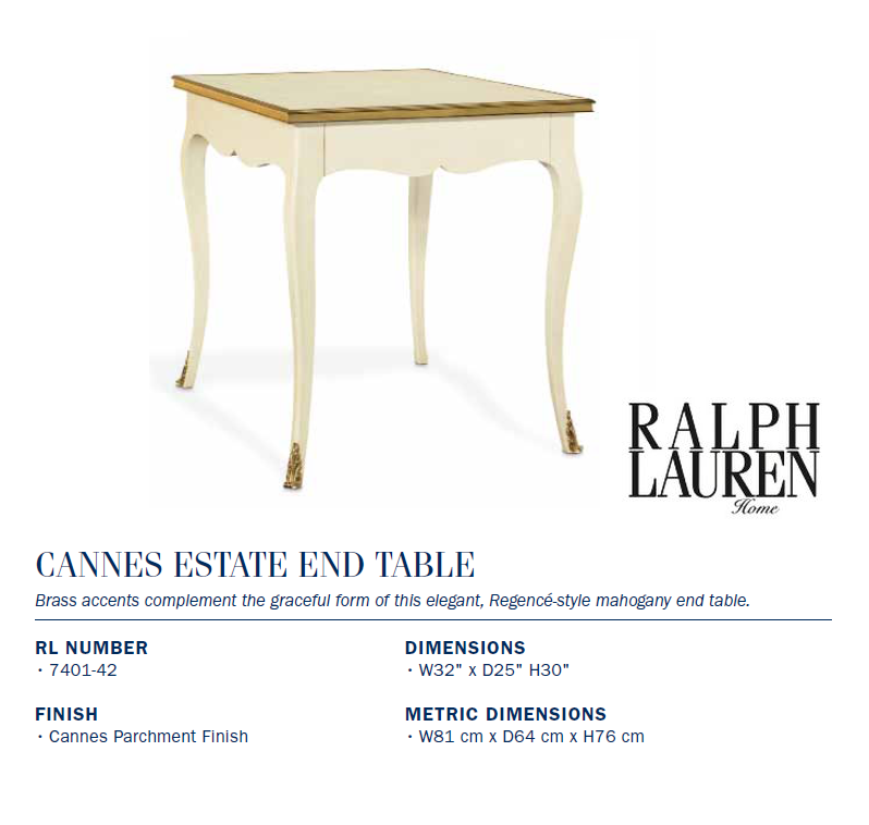 7401-42 CANNES ESTATE END TABLE