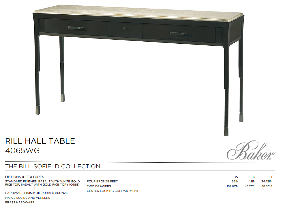 4065 RILL HALL TABLE