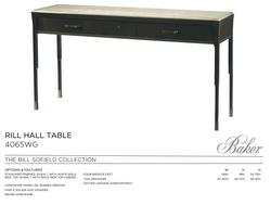 4065 RILL HALL TABLE