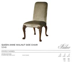 5348 QUEEN ANNE  WALLNUT SIDE CHAIR