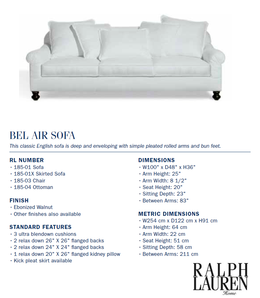 185-01 bel air sofa