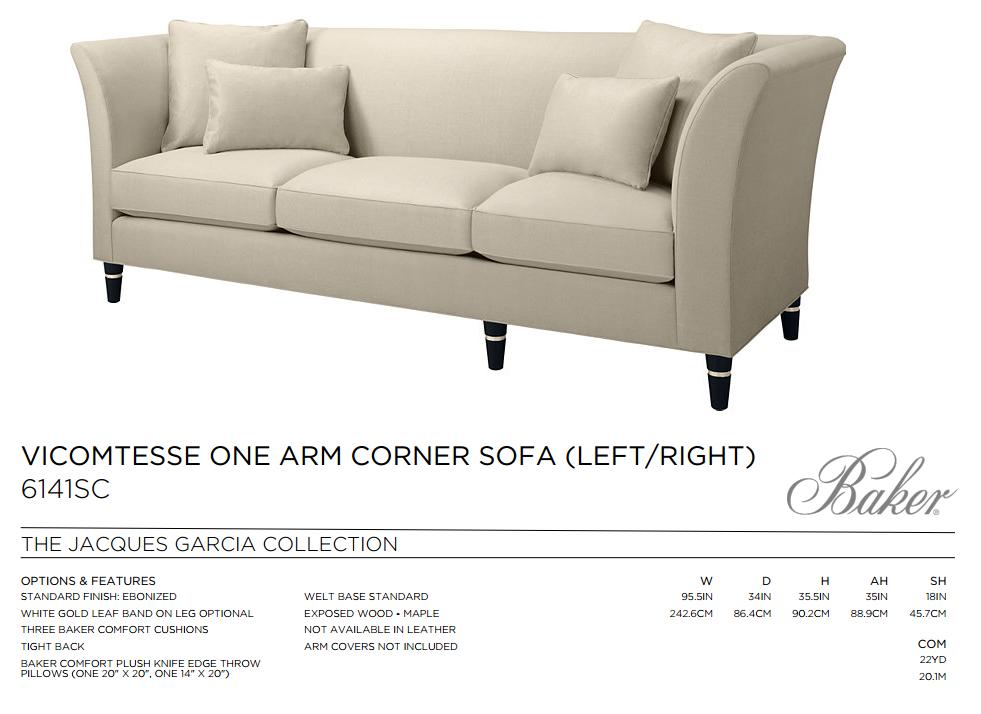 6141SC VICOMTESSE ONE ARM CORNER SOFA