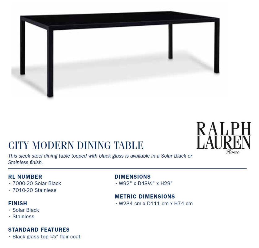 7000-20 City Modern Dining TABLE