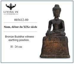 003612-80 Bouddha en bronze 19C