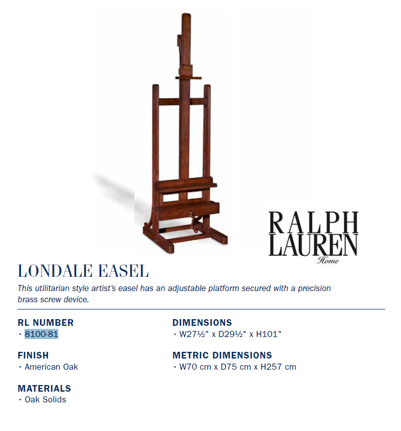 8100-81 LONDALE EASEL