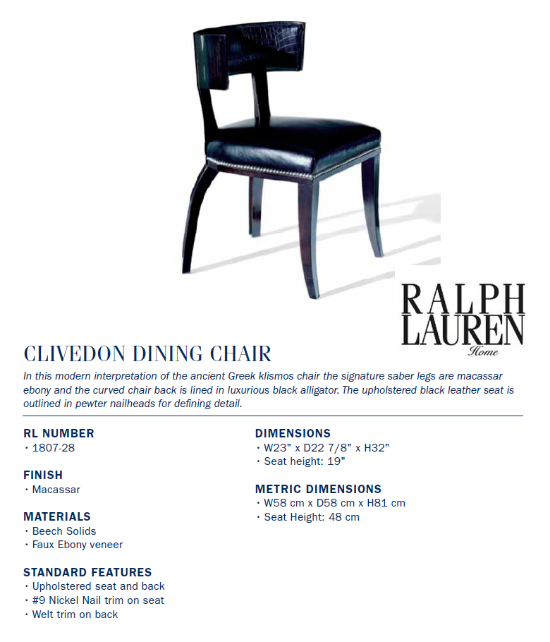 1807-28 clivedon dining chair