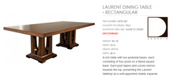 60781-001 LAURENT DINING TABLE - RECTANGULAR