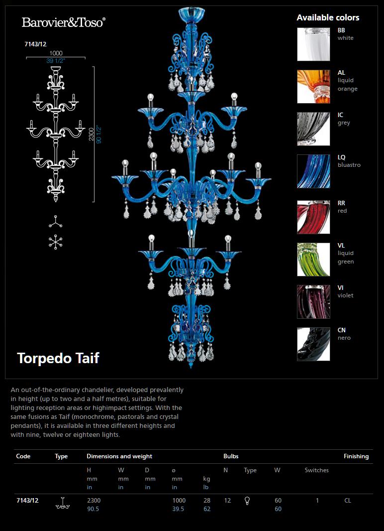 7143 12 CHANDEIER TORPEDO TAIF