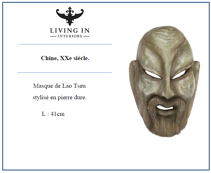 Masque de Lao Tseu Chine