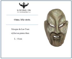 Masque de Lao Tseu Chine