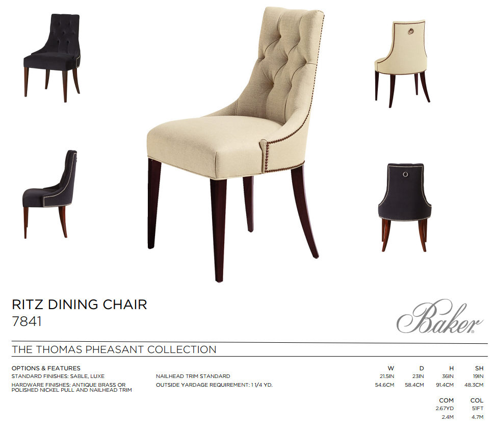 7841 RITZ DINING CHAIR