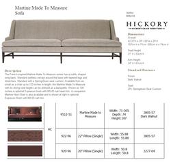 9512-51  Martine Made To Measure Sofa