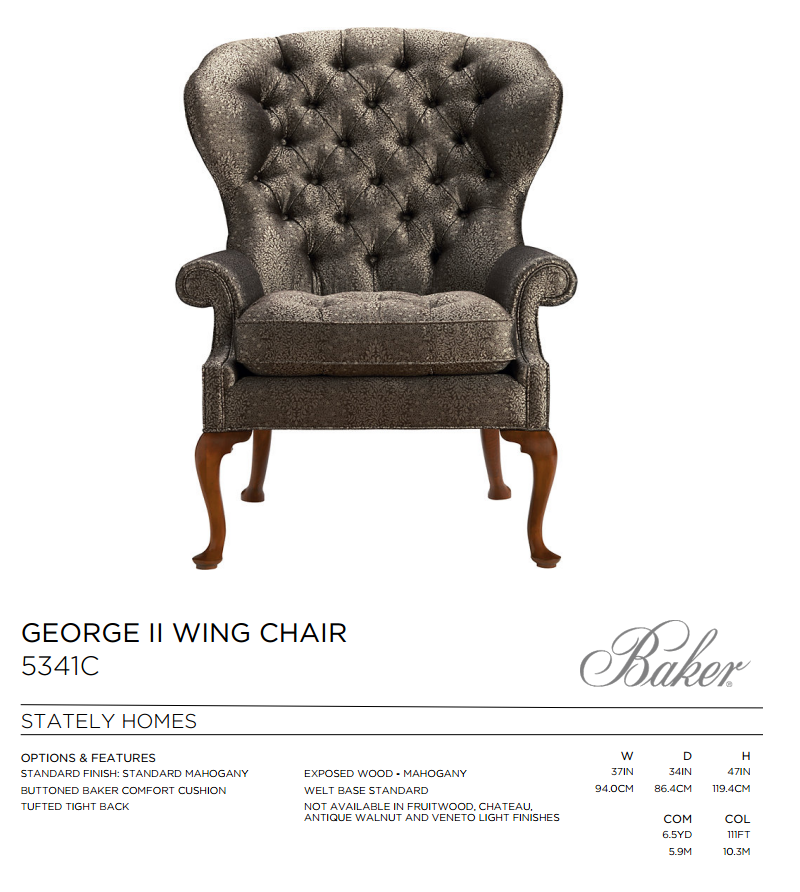 5341C GEORGE II WING CHAIR