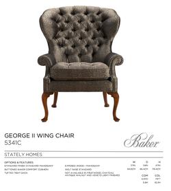 5341C GEORGE II WING CHAIR