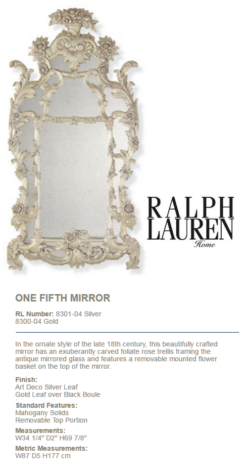 8300-04  ONE FIFTH MIRROR