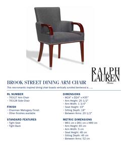 763-27 Brook Street Dining Arm Chair