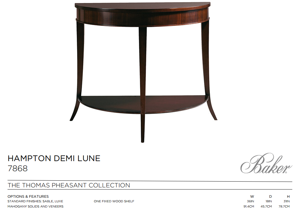 7868 HAMPTON DEMI LUNE