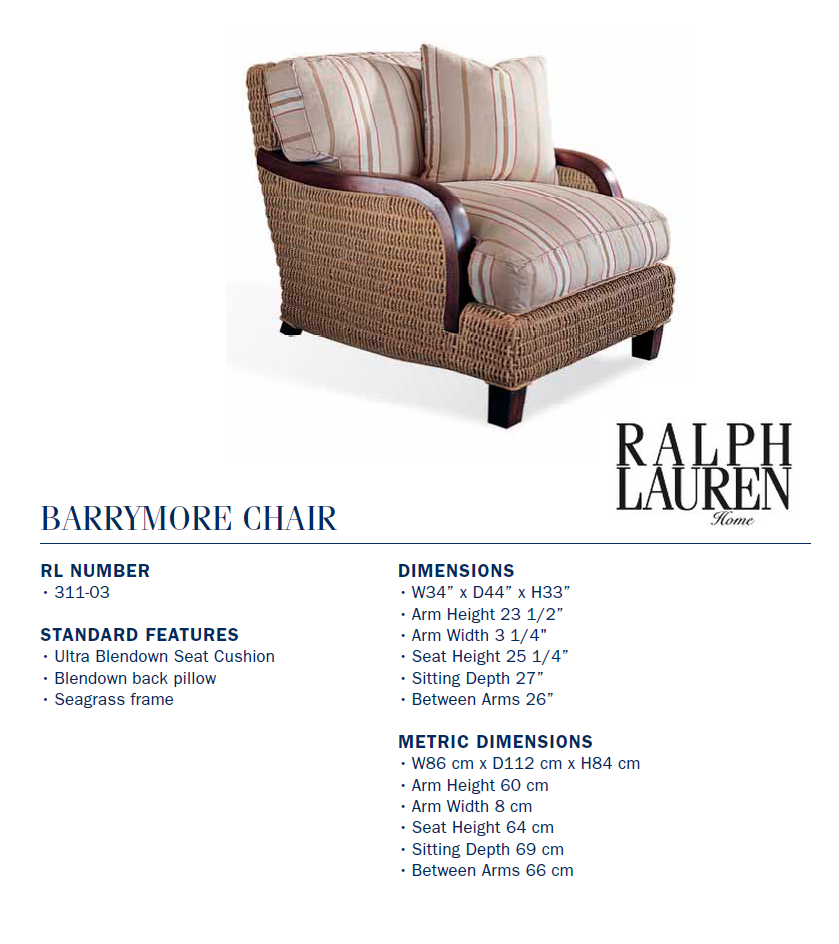 311-03 Barrymore chair