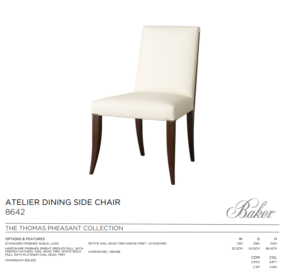 8642  ATELIER DINING SIDE CHAIR