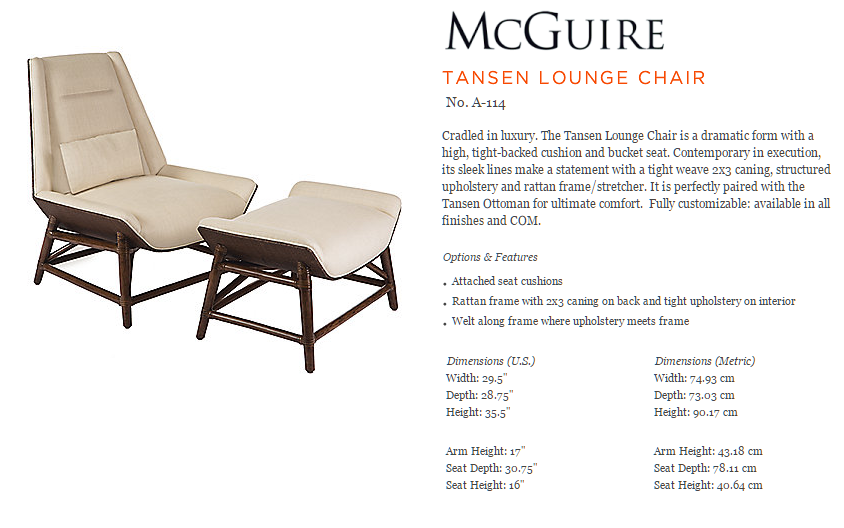 A-114 TANSEN LOUNGE CHAIR