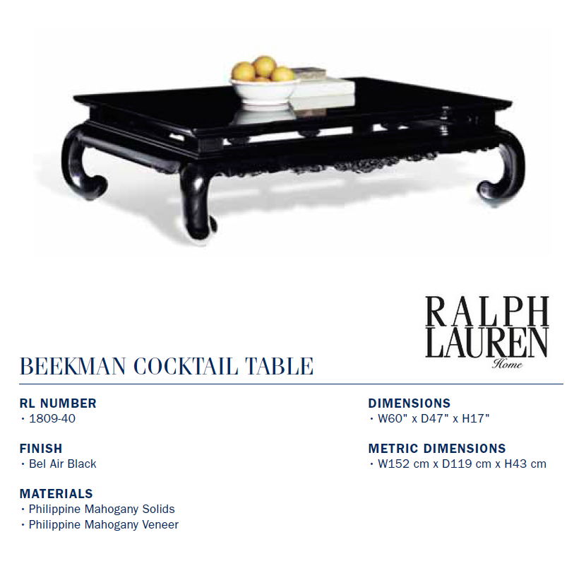 1809-40 beekman cocktail table