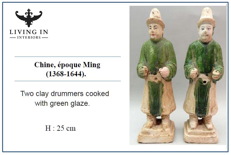 000986-1158 MING Deux joueurs de tambourins
