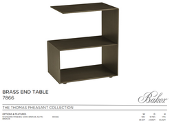 7866 BRASS END TABLE