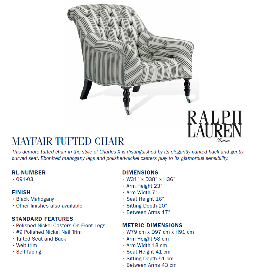 091-03  mayfair tufted chair